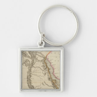 Egypt 3 Silver-Colored square key ring