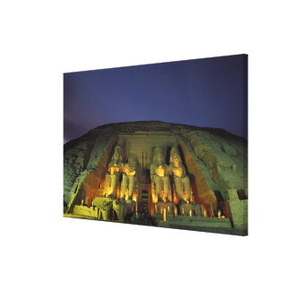 Egypt, Abu Simbel, Colossal figures of Ramesses Canvas Print
