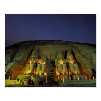 Egypt, Abu Simbel, Colossal figures of Ramesses Poster
