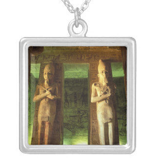 Egypt, Abu Simbel, Statue of Ramesses II, Silver Plated Necklace
