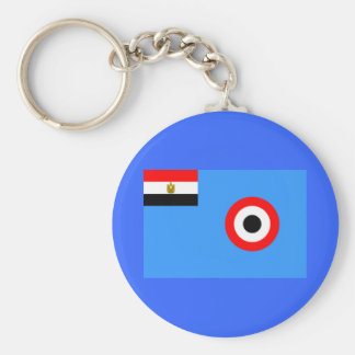 Egypt Air Force Flag Basic Round Button Key Ring