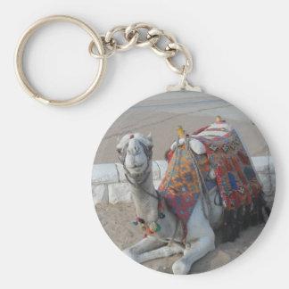 Egypt Camel Basic Round Button Key Ring
