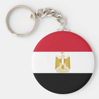 Egypt EG جمهورية مصر العربية Basic Round Button Key Ring