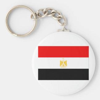 Egypt Flag Basic Round Button Key Ring