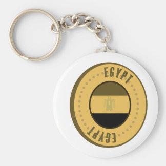 Egypt Flag Gold Coin Basic Round Button Key Ring