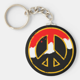 EGYPT PEACE BASIC ROUND BUTTON KEY RING
