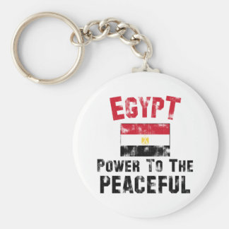 Egypt: Power to the Peaceful Vintage Basic Round Button Key Ring