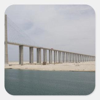 Egypt, Suez Canal. Bridge of Peace aka Peace Square Sticker