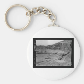 Egypt. Temple of Dier el Bahre circa 1936 Basic Round Button Key Ring