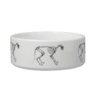 Egyptian Cat Skeleton Pet Bowl