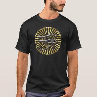 Egyptian Eye of Horus Gold and Black T-Shirt