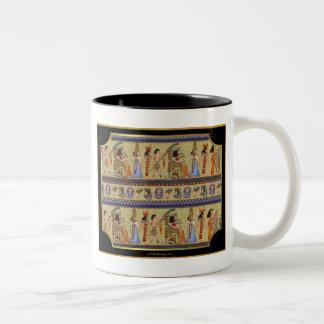 Egyptian Hieroglyphics Series II Apparel Gifts Two-Tone Coffee Mug
