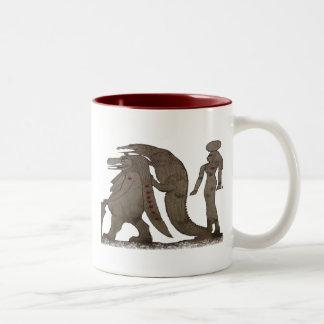 Egyptian Hippo, Croc & Isis Gifts / Greetings Two-Tone Coffee Mug