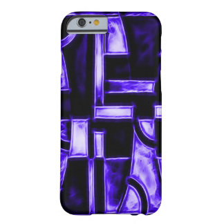 Egyptian Midnight Blue Temple Fractal Barely There iPhone 6 Case