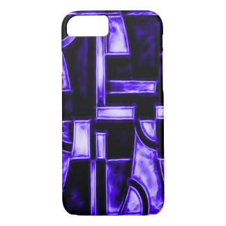 Egyptian Midnight Blue Temple Fractal iPhone 8/7 Case