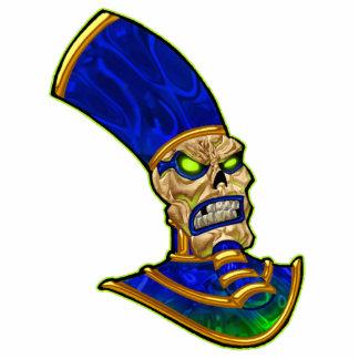 Egyptian Pharaoh King Skull Skeleton Art Standing Photo Sculpture