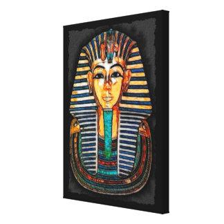 Egyptian Pharaoh Tutankhamen Art Study Canvas Print