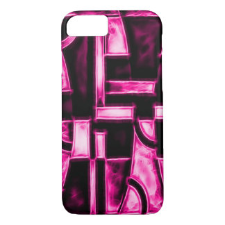 Egyptian Pink Temple Fractal iPhone 8/7 Case