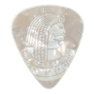 Egyptian Rose Pharaoh Pink Stone Style Egypt Pearl Celluloid Guitar Pick