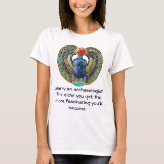 Egyptian Scarab Custom Archaeologist T-Shirt