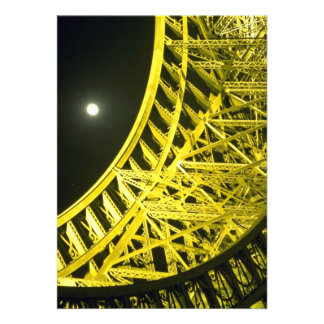 Eiffel tower and moon, Paris, France Personalized Invite