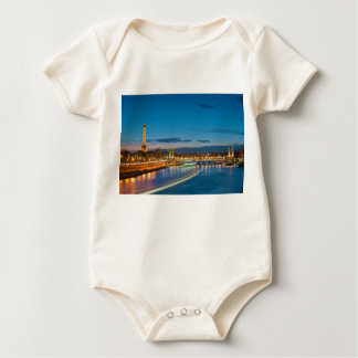 Eiffel Tower and Pont Alexandre III at Night Baby Bodysuit
