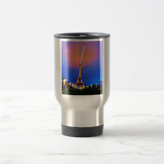 Eiffel Tower at Night Painting Travel Mug