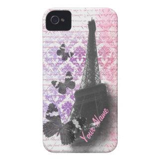 Eiffel tower & butterflies Case-Mate iPhone 4 cases