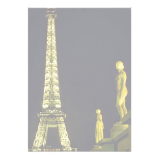 Eiffel Tower by night, Paris, France Personalized Announcement