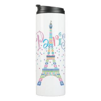 Eiffel Tower Confetti Thermal Tumbler