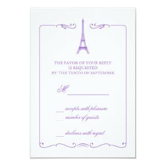 Eiffel Tower Elegant RSVP Card Invitation