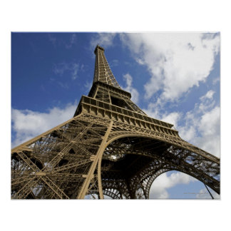 Eiffel tower from low angle poster