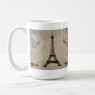 Eiffel Tower Grunge Coffee Mug