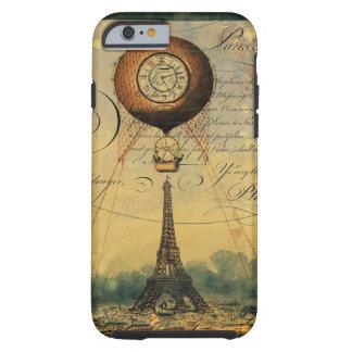 Eiffel Tower Hot Air Balloon Steampunk Tough iPhone 6 Case