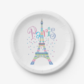 Eiffel Tower Paper Plates 7 Inch Paper Plate