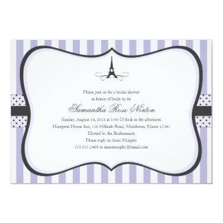 Eiffel Tower Paris Bridal Shower 13 Cm X 18 Cm Invitation Card
