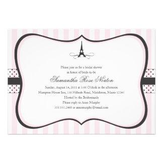 Eiffel Tower Paris Bridal Shower Invitations