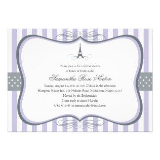 Eiffel Tower Paris Bridal Shower Invites