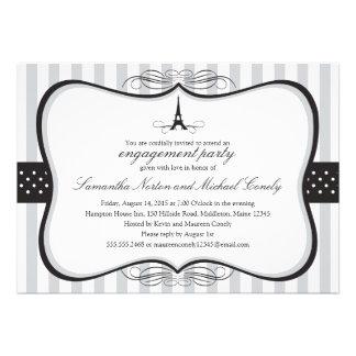 Eiffel Tower Paris Bridal Shower Custom Invites