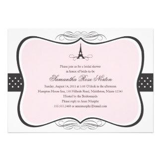 Eiffel Tower Paris Bridal Shower Personalized Invitations