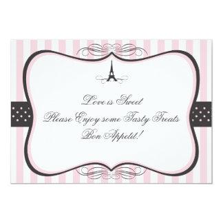 Eiffel Tower Paris Candy Sign 13 Cm X 18 Cm Invitation Card