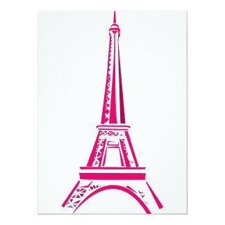 Eiffel Tower Paris Invite