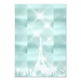 Eiffel Tower Paris Sparkly Stars Tiffany  Diamond Card
