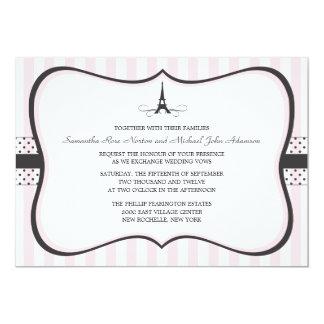 Eiffel Tower Paris Wedding 13 Cm X 18 Cm Invitation Card