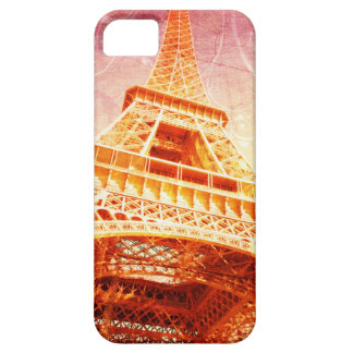 Eiffel Tower Phone Case, Crimson and Gold Case For The iPhone 5