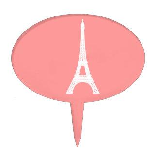 Eiffel Tower Pink Cake Picks