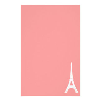Eiffel Tower Pink Stationery