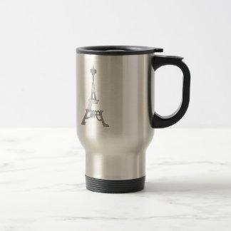 Eiffel Tower Pop Art Travel Mug