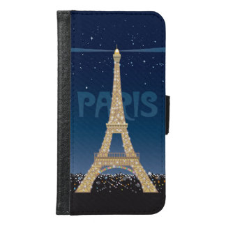Eiffel Tower Sparkle Samsung Galaxy S6 Wallet Case