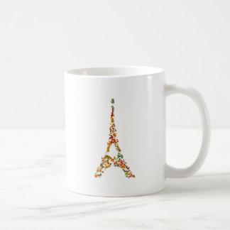 Eiffel Tower splatter painting multicolored Paris Coffee Mug